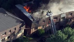 2 PA FIREFIGHTERS HURT AT APARTMENT FIRE