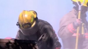 TWO NEVADA FIREFIGHTERS HURT AT HOARDER HOME FIRE