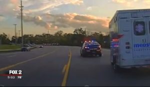 MAN STEALS MICH. AMBULANCE, LEADS COPS ON CHASE