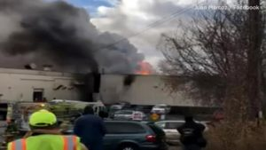 FIREFIGHTERS DOWN, EXPLOSIONS AT COSMETICS FACTORY FIRE IN UPSTATE NY