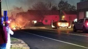 FIRE SUV CRASH AND FIRE IN PA