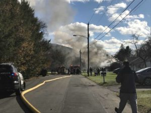 CT FIREFIGHTER INJURED AT HOUSE FIRE