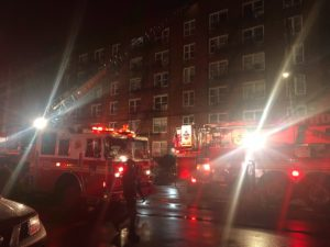 3 FDNY FIREFIGHTERS AT 3RD ALARM APARTMENT FIRE