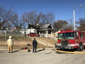 FIREFIGHTER INJURED AT KCK FIRE