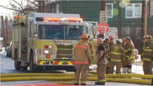 PA. FIREFIGHTER BURNED, HOSPITALIZED