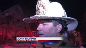 TWO BUFFALO FIREFIGHTER SUFFER FACIAL BURNS