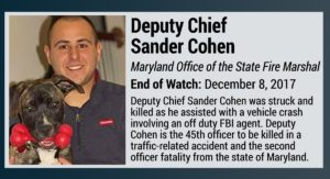 MARYLAND STATE DEPUTY CHIEF FIRE MARSHAL LODD FUNERAL DETAILS