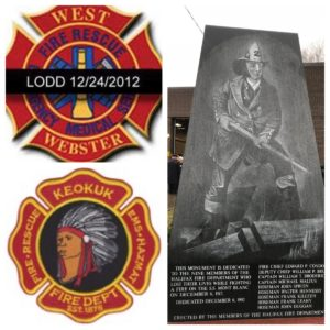 WEST WEBSTER, KEOKUK & HALIFAX FIREFIGHTERS REMEMBERED (Audio & Videos)