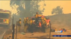 FIREFIGHTER BREAKS LEG BATTLING CALIF.'S THOMAS FIRE