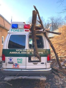 NYC AMBULANCE CRUSHED BY FALLEN TREE