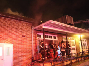 FIRE AT UNIV. OF DELAWARE INJURES 2 FIREFIGHTERS