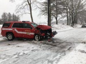 MA FIREFIGHTER INJURED AFTER CRASH