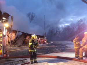 FIREFIGHTER, 2 OTHERS INJURED AT INDIANA FOP FIRE