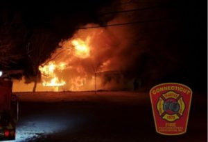 THREE CONN. FIREFIGHTERS HURT AT 3-ALARM FIRE