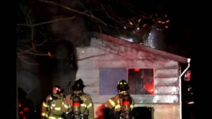 MAN ATTEMPTS TO STAB FIREFIGHTER HOUSE FIRE IN CA