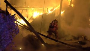 FIREFIGHTER IN PORTLAND PULLED FROM BURNING RUBBLE (VIDEO)