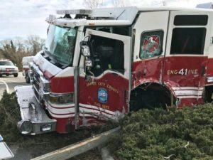 FIREFIGHTER CHARGED IN SERIOUS RESPONDING FIRE APPARATUS CRASH