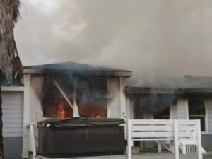 FIREFIGHTER INJURED AT CA HOUSE FIRE
