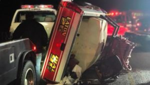 INDIANA RIG STRUCK BY DRUNK AT SCENE