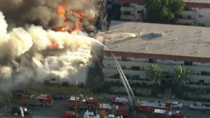 CA FIREFIGHTER INJURED AT APARTMENT FIRE