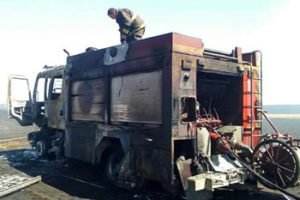 FIREFIGHTER CRITICALLY BURNED, APPARATUS DESTROYED IN CHILE FIRE
