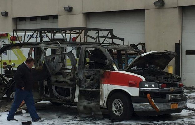 Amr Ambulance Burns Explodes In Buffalo 2 Injured
