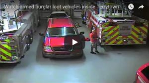 SURVEILLANCE CAM: ARMED MAN BURGLES FIREHOUSE