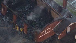 AMBULANCE STATION FIRE IN NJ