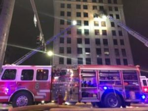 LINCOLN, NE FIREFIGHTER INJURED AT HIGH RISE FIRE