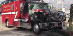 FLORIDA FIRE DEPT RESCUE UNIT CRASHES WHILE TRANSPORTING – CHILD CRITICAL