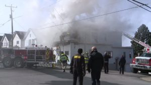 PA FIREFIGHTER INJURED AT FIRE THAT DISPLACES 9