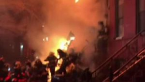 PIECE OF BUILDING COLLAPSES, INJURING FDNY FIREFIGHTERS