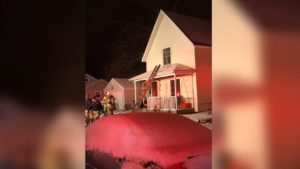 INDIANA FIREFIGHTER INJURED AT HOUSE FIRE