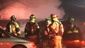 OHIO FIREFIGHTER CLIPPED BY CAR, INJURED AT FIRE SCENE