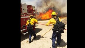 CA FIREFIGHTER INJURED AT BRUSH FIRE