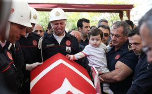 TURKISH HERO FIREFIGHTER LODD-TRAPPED AFTER SAVING 3 LIVES IN BUILDING FIRE