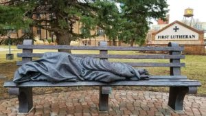 """HOMELESS JESUS"" STATUE DRIVES CALLS TO 9-1-1"