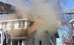 N.J. FIREFIGHTER INJURES KNEE AT SUNDAY HOUSE FIRE