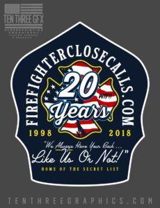 "FREE 20th ANNIVERSARY STICKERS – FIREFIGHTER CLOSE CALLS – ""The Secret List"""