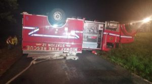 VA. FIRE ENGINE CUT OFF BY CAR, ROLLS