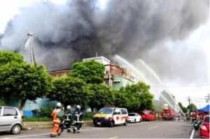FIVE FIREFIGHTERS DIE, SEVEN HURT AT TAIPEI FACTORY FIRE