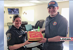 "COP ACCIDENTALLY TASES COP IN OHIO. SHE GETS HIM A ""SORRY I TASED YOU"" CAKE"