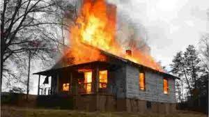 HOUSE BURNS – 9-1-1 CALL GOES 125 MILES AWAY