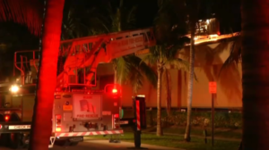 FIREFIGHTER INJURED AT KEY BISCAYNE STRIP MALL FIRE
