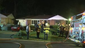 FIREFIGHTER INJURED AT ST. LOUIS CO. MO FIRE