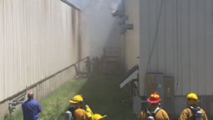 RI FIREFIGHTER INJURED AT COMMERCIAL BUILDING FIRE