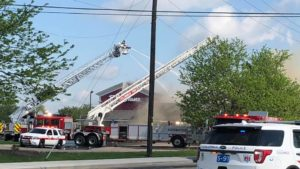 2 OHIO FIREFIGHTERS INJURED AT BOB EVANS FIRE
