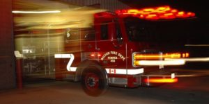 CANADIAN FIREFIGHTER INJURED AT FIRE