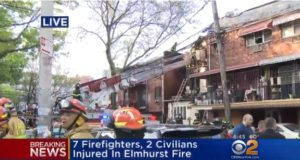 VIDEO: 7 FDNY FIREFIGHTERS, 2 CIVILIANS HURT IN 3-ALARM FIRE