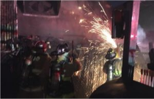CALIF FIREFIGHTER CONTACTS ELECTRIFIED FENCE, HOSPITALIZED